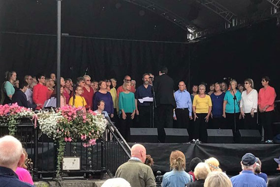 Coleford Community Choir at Coleford Music Festival